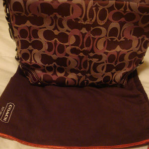 Coach Handbag (red/burgundy)